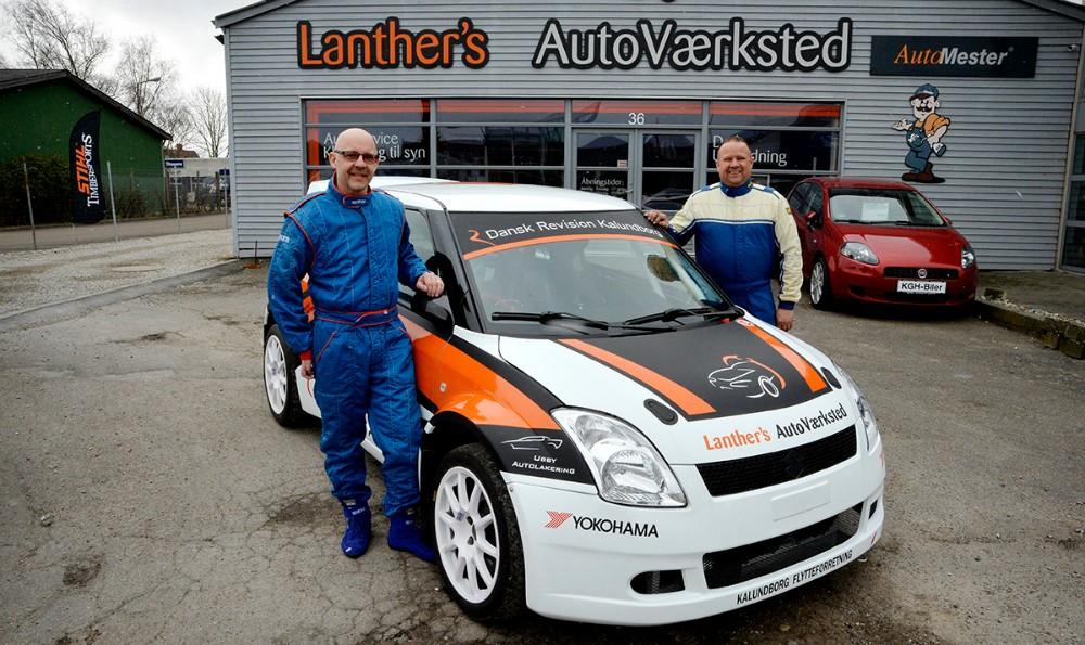 Mogens er 2. kører hos Claus Lanther. Foto: Jens Nielsen