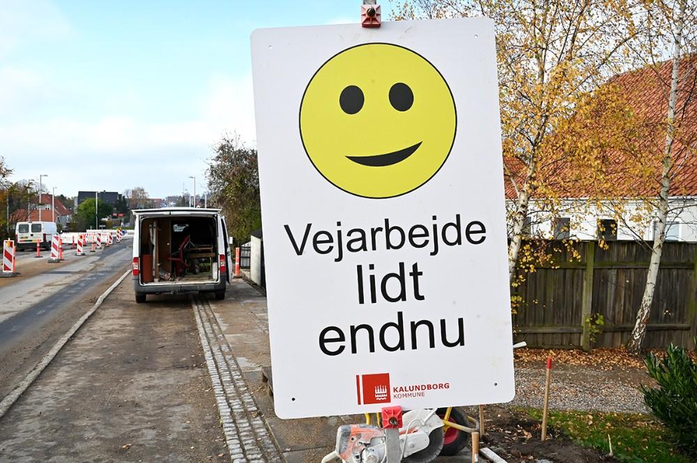 Arbejdet med renovering af Holbækvej skrider frem. Foto: Jens Nielsen