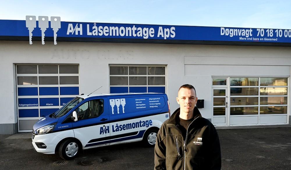 Sikringstekniker Paw Jensen, Kalundborg, bliver daglig leder af A/H Låsemontage i Kalundborg. Foto: Jens Nielsen