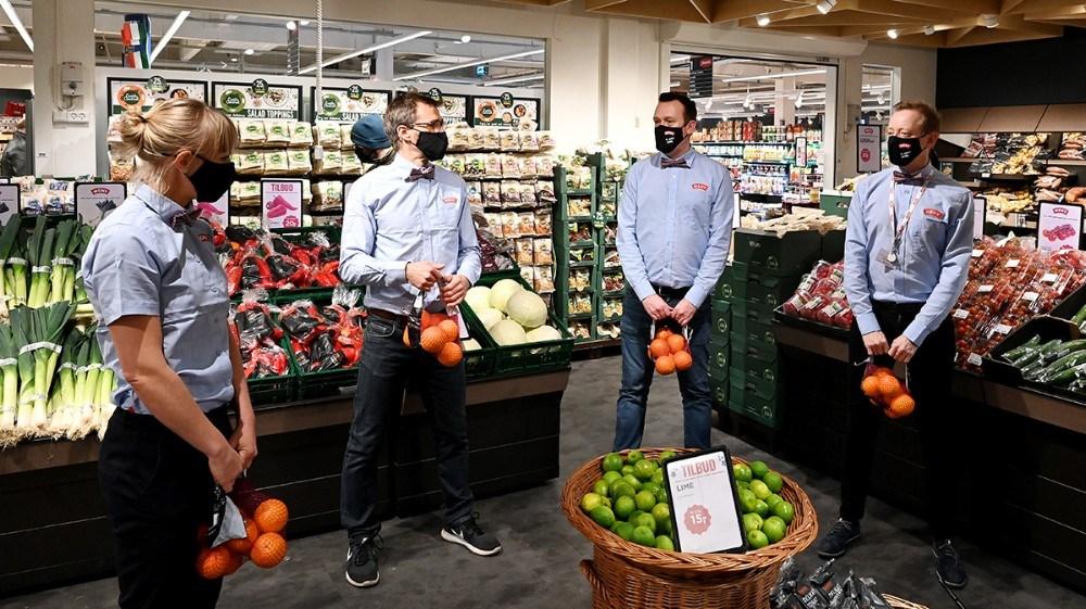 Der blev bl.a. lavet øvelser med appelsiner. Foto: Jens Nielsen