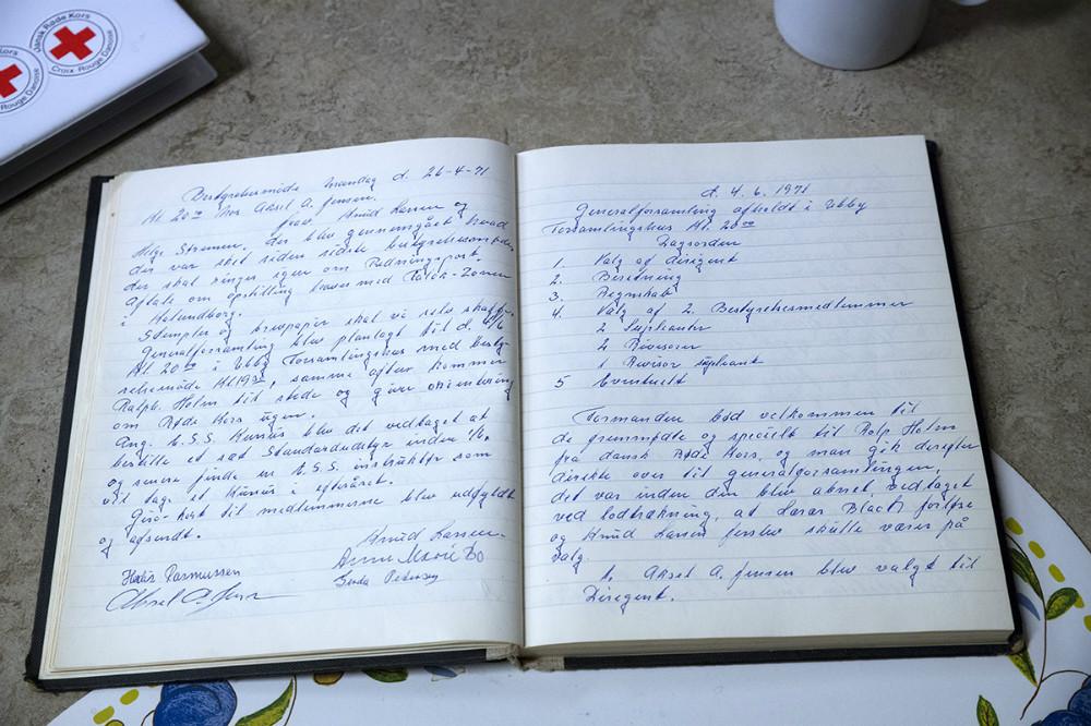Den gamle protokol. Foto: Jens Nielsen