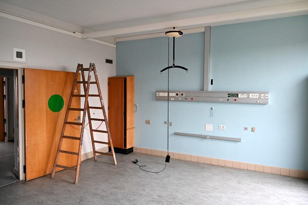 Der er stadig en rest af sygehus på 2. sal. Foto: Jens Nielsen