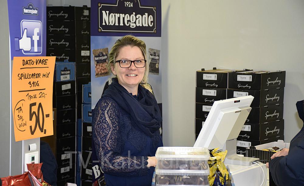 Line Sørensen,daglig leder af Spangsberg Fabriksudsalg i Kalundborg. Foto: Gitte Korsgaard.