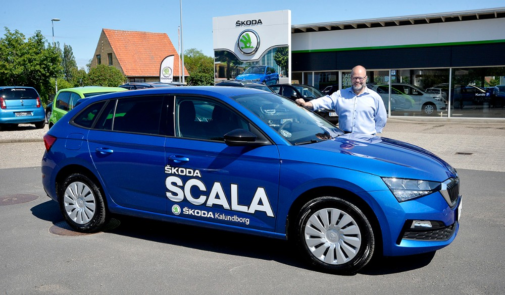 Rene Petersen fra Hansen Biler er klar til at vise den nye Skoda Scala frem i den kommende weekend. Foto: Jens Nielsen