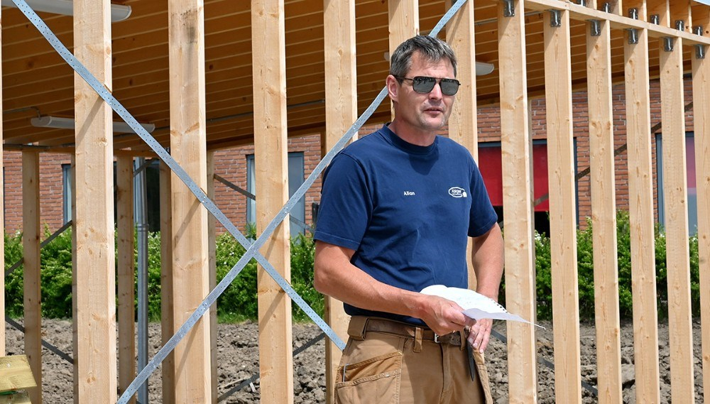 tømrermester Allan Abkjær er hovedentreprenør. Foto: Jens Nielsen