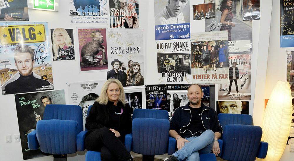 Annette Sønder Nielsenog Brian Sønder Andersen, der ejer Kino Den Blå Engel i Kalundborg. Arkivfoto: Jens Nielsen.