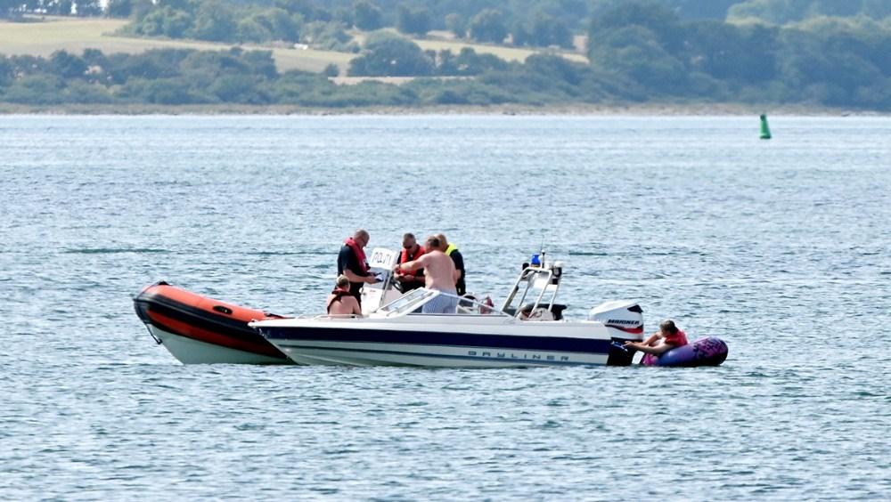 Det maritime politi var på vandet lørdag. Foto: Jens Nielsen