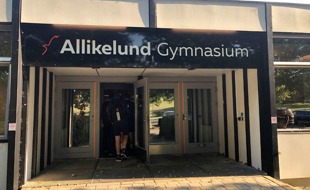 Første skoledag for K10 på Allikelund Gymnasium.