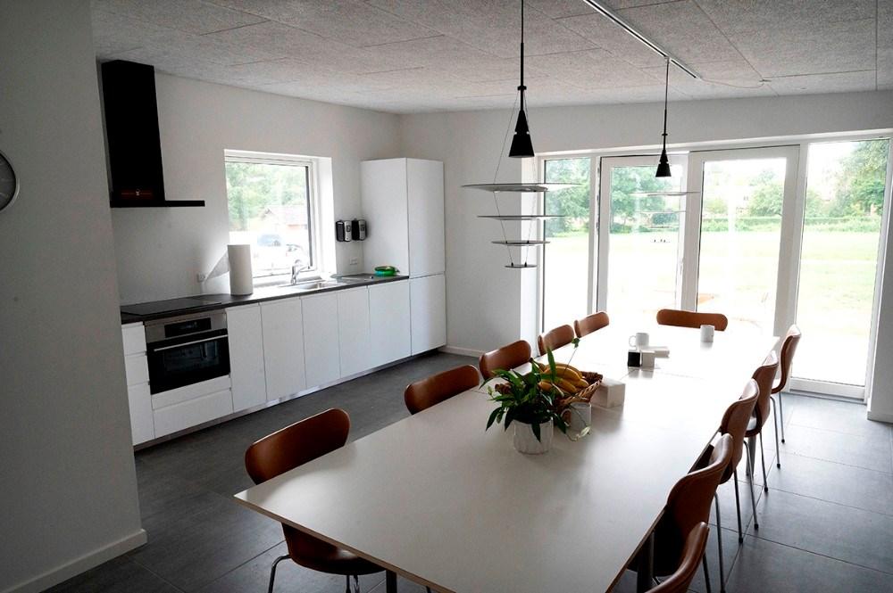 En ny stor spisestue er der også blevet plads til. Foto: Jens Nielsen