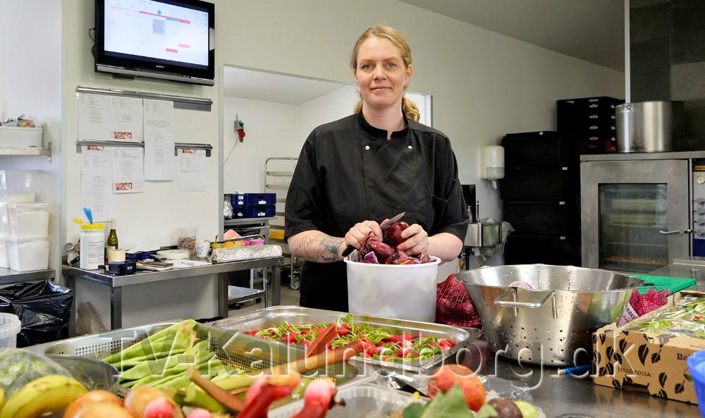 Mia Reesen i sit køkken. Foto: Jens Nielsen