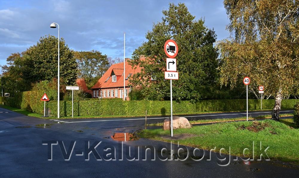 Her kommer den nye vej ud på Hestehavebakken. Foto: Jens Nielsen