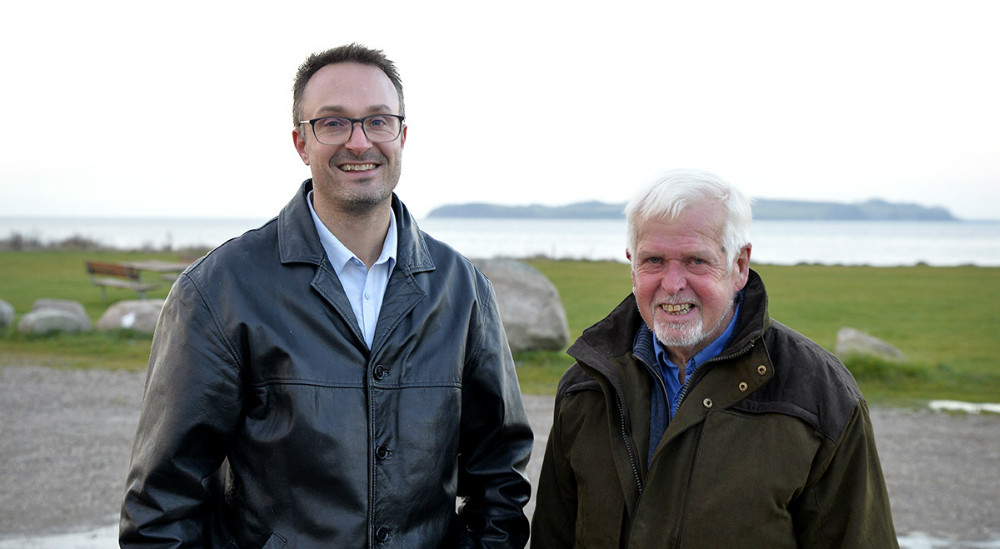 Kristian Kallenbach, her sammen med Mogens Fabrin, formand for Venstre Bjergsted. Foto: Jens Nielsen