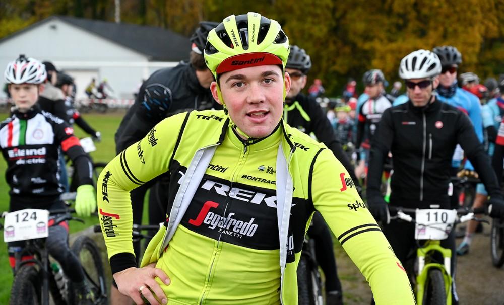 Den nykårede verdensmester i landevejscykling, Mads Pedersen, stillede til start i Kalundborg søndag. Foto: Jens Nielsen