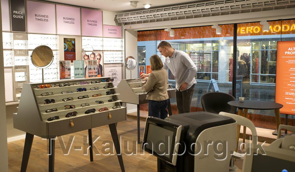 Profil Optik i Kalundborg er klar til at tage i mod kunderne med en helt ny indretning. Foto: Jens Nielsen
