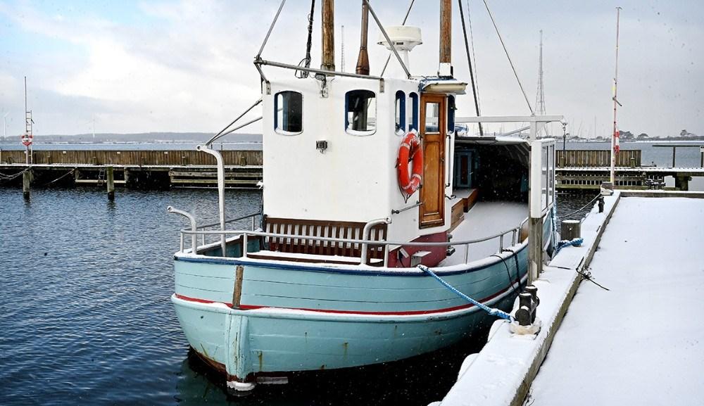 Pia Bang ligger i Vesthavnen i Kalundborg. Foto: Jens Nielsen