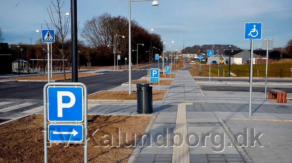 Der er masser af pendler P-pladser ved den nye station på Stejlhøj. Foto: Jens Nielsen