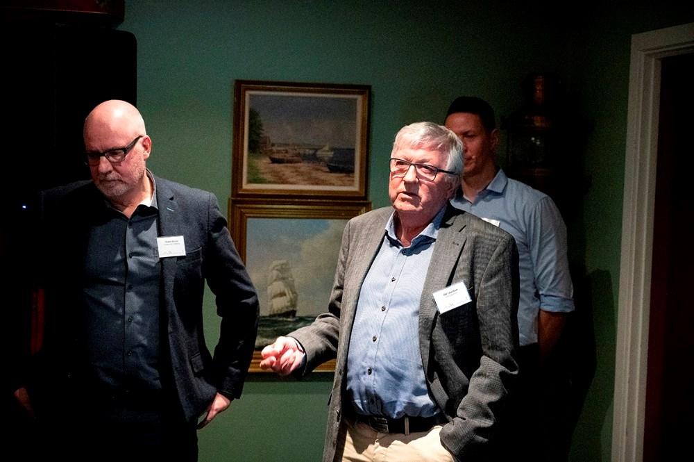 Ole Lauritsen, udnævnt til æresmedlem af Kalundborgegnens Erhvervsråd. Foto: Jens Nielsen