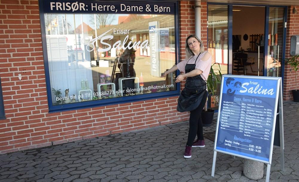 Ferial Youssef har åbnet Frisør Salina ved Kvickly i Kalundborg. Foto: Gitte Korsgaard.
