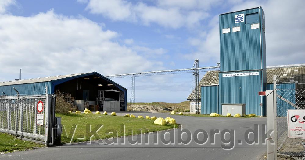 Det er området her bag de store lagerhaller på syd havnen i Kalundborg at reguleringen af duer foregår. Foto: Jens Nielsen