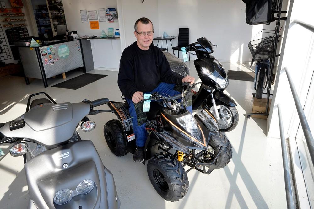 En lille ATW er et af de nyeste tiltag som kan købes hos DTN Scooter. Foto: Jens Nielsen