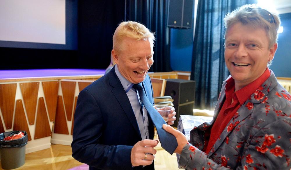 Morten Nystrup med slips. Foto: Jens Nielsen