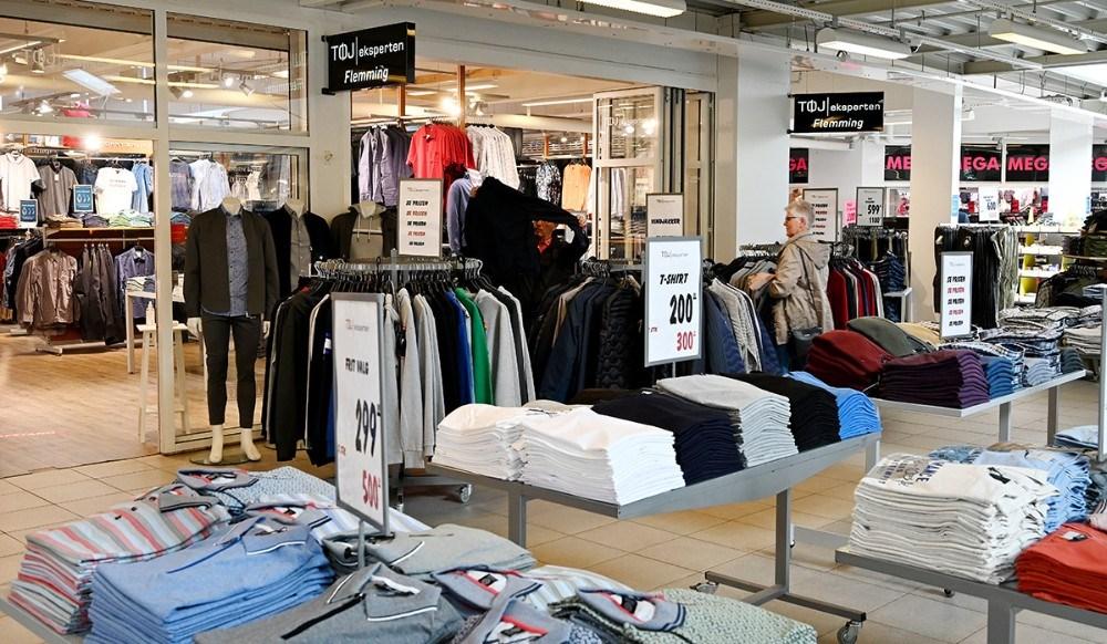 Mandag morgen var Høng Centret klar til at tage imod kunderne igen. Foto: Jens Nielsen