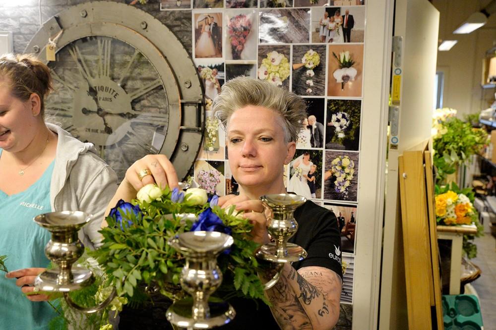 Annette Trampenberg, indehaver af Blomsterværkstedet i Høng Centret. Foto: Jens Nielsen