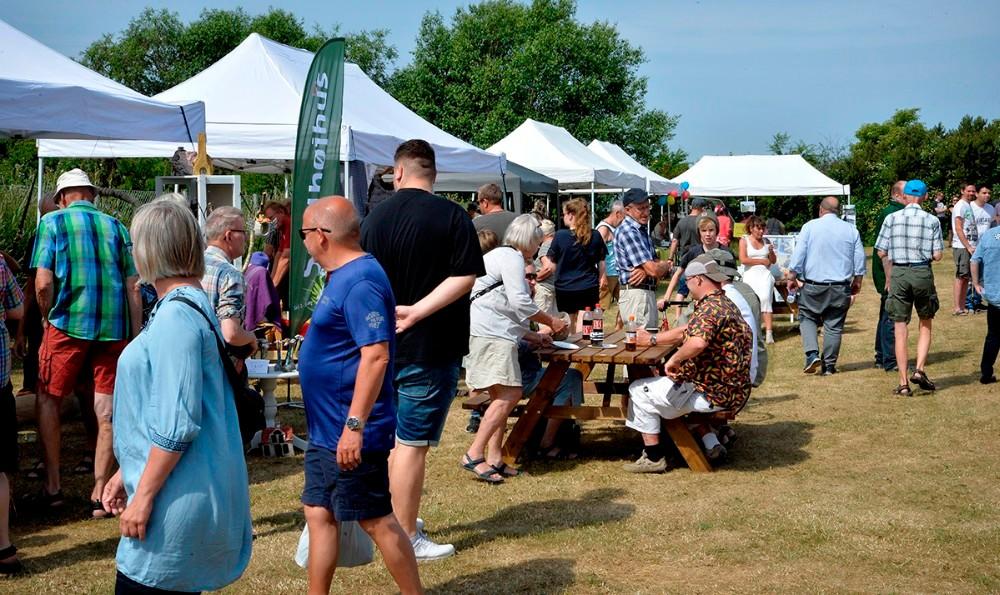 Der plejer at komme mange gæster til markedsdagen. Arkivfoto: Jens Nielsen