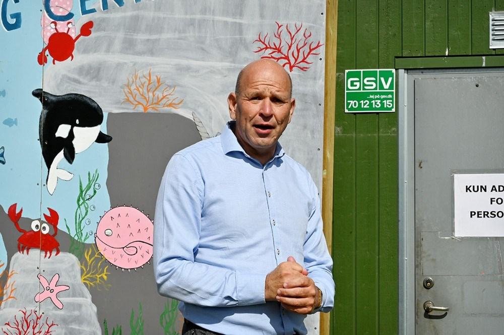 Søren Møberg-Poulsen, der er medlem af den lokale aktionsgruppe for 'Få det fikset-puljen' i Havnsø. Foto: Jens Nielsen