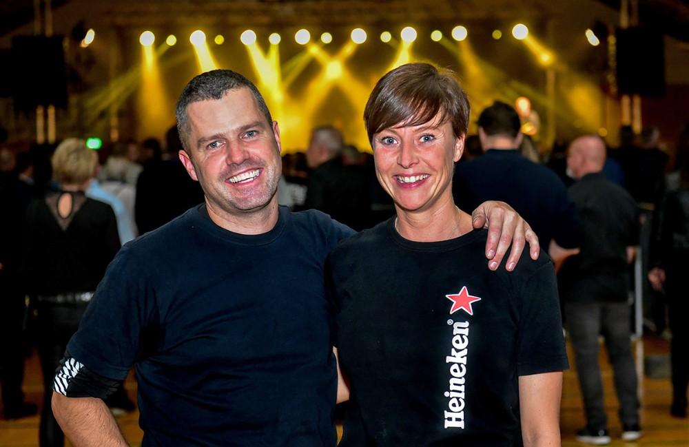 Jack Nielsen og Michelle Strøm stod som arrangører af koncerten. Foto: Ole Agerbæk