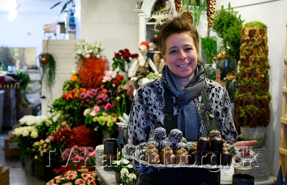 Charlotte Rasmussen, indehaver af Den Lille Blomsterbutik. Foto: Jens Nielsen