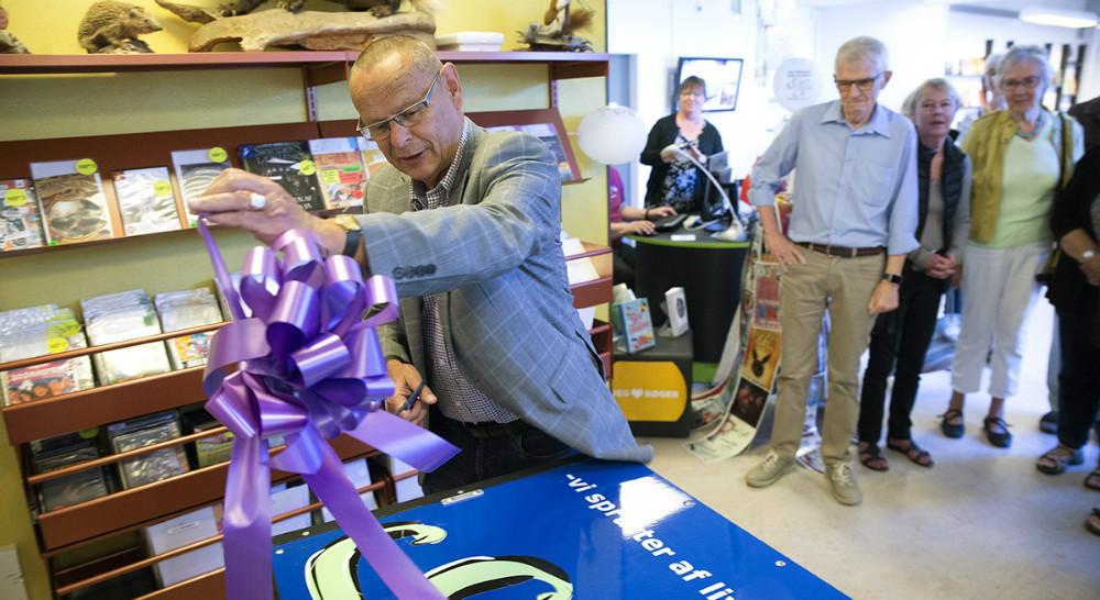 Formand for Kultur og Fritidsudvalget, Ole Glahn, da efterårskataloget blev offentliggjort.Den 20. januar løfter han sløret for forårskataloget 2018. Arkivfoto: Jens Nielsen