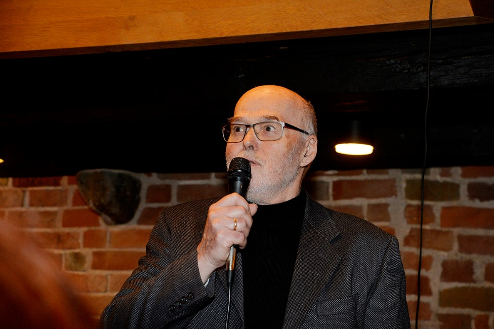 formand for Kalundborg Kunstforening, Per Lysemose. Foto: Jens Nielsen