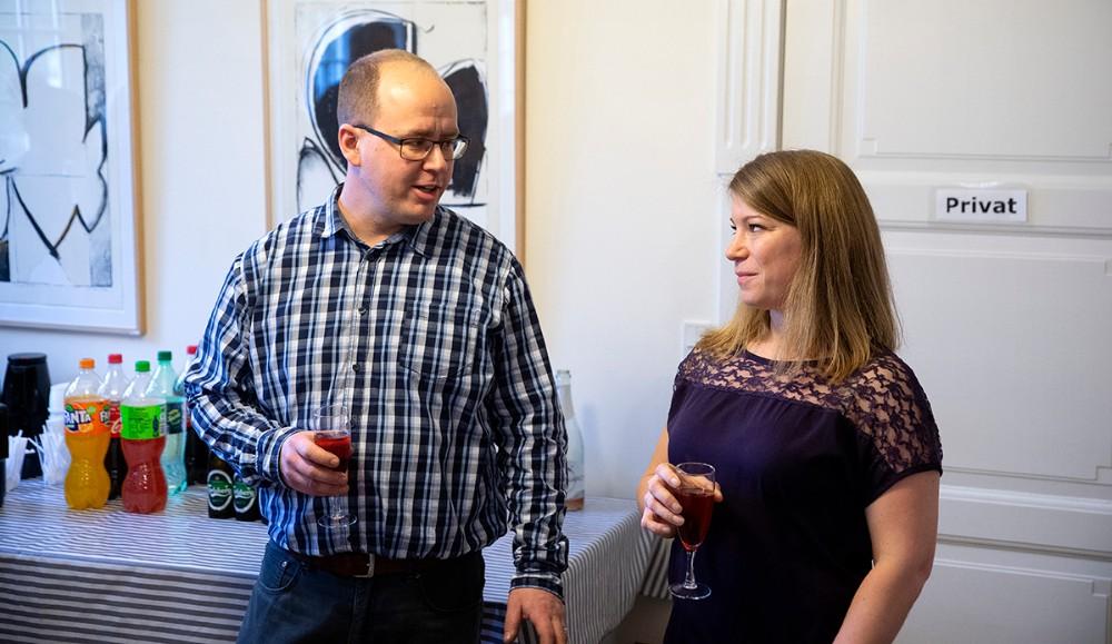 Ægteparret Katrine og Claus Birkemos Olsen har åbnet deres eget firma, By Birkemos. Foto: Jens Nielsen