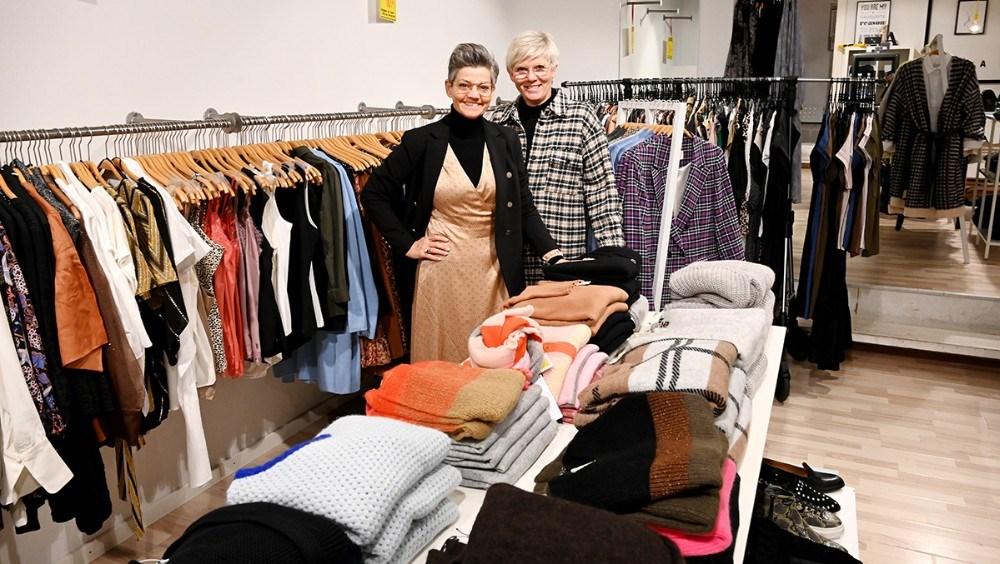 Annette Pihlman og Susanne Engell Borrild fra Butik A. Foto: Jens Nielsen