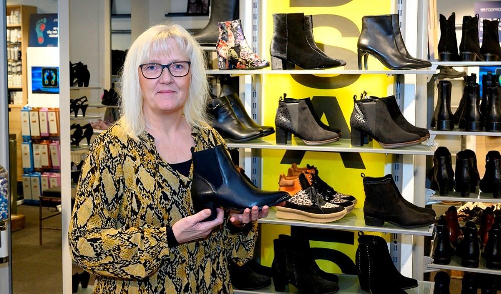 Anne Jørgensen, indehaver af Skoringen Kalundborg. Foto: Jens Nielsen