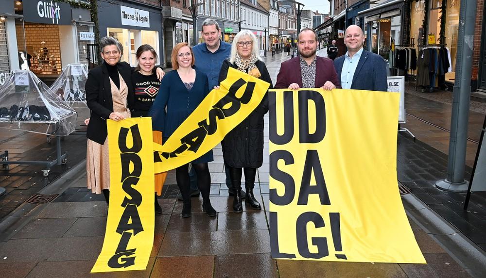 Forretningerne i handelstandsforeningen Vores Kalundborg er klar med masser af gode tilbud i forbindelse med januarudsalget. Foto: Jens Nielsen