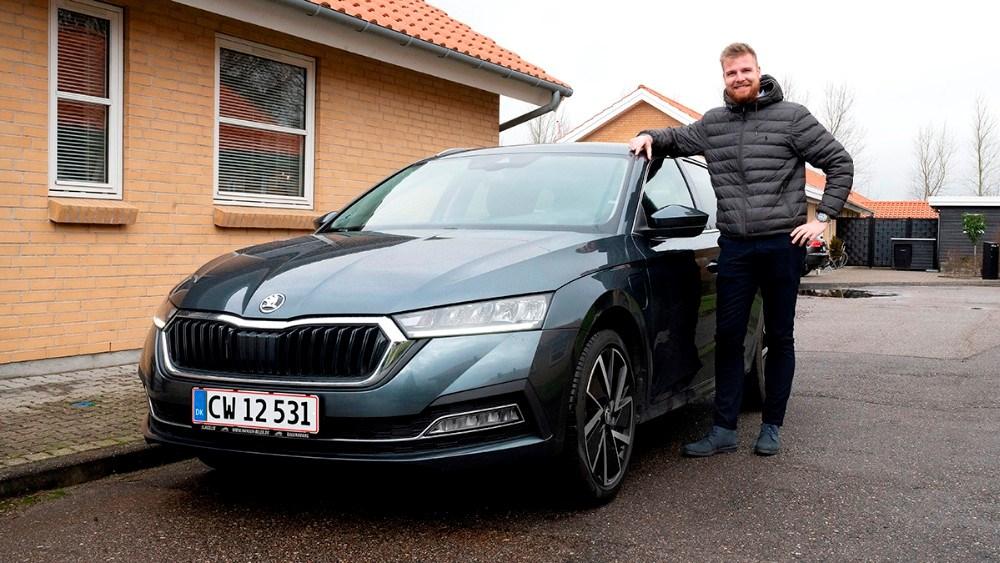 Mathias Jakobsen fra Hansen Biler i Kalundborg er klar til at besøge kunderne på deres hjemmeadresse. Foto: Jens Nielsen