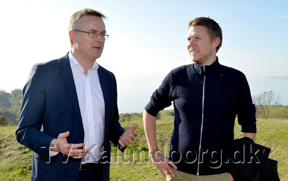 De to lokalvalgte folketingspolitikere Rasmus Horn Langhoff (A), til højre, og Jacob Jensen (V), er inviteret til dialogmøde med en lang række transport- og transportintensive virksomheder. Arkivfoto: Jens Nielsen