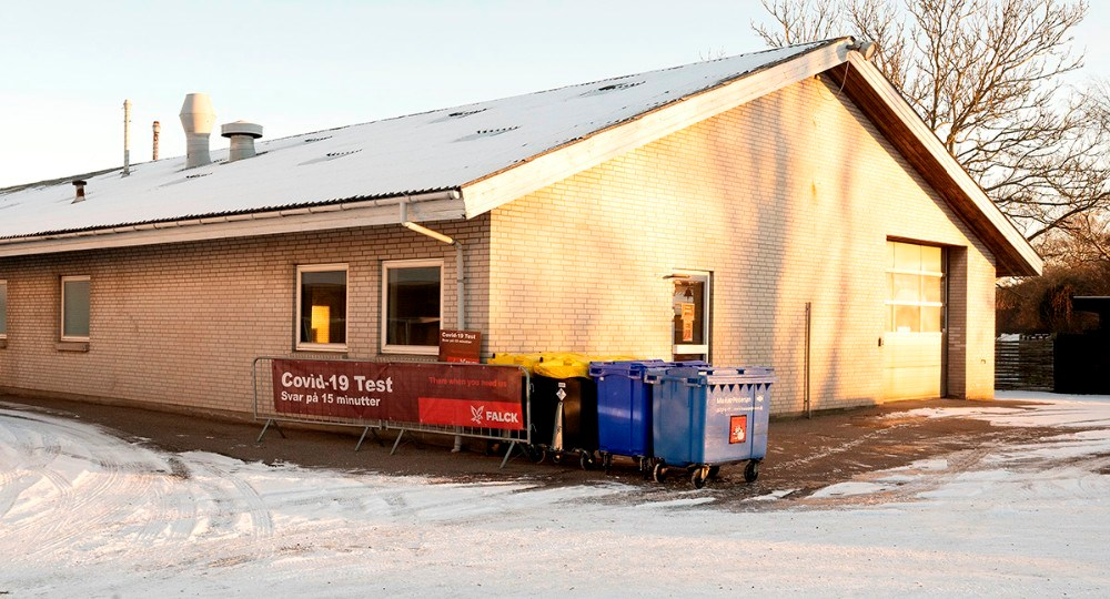 Fra på mandag er Falck klar med deres kviktest-center i Kalundborg på Slagelsevej 121. Foto: Jens Nielsen