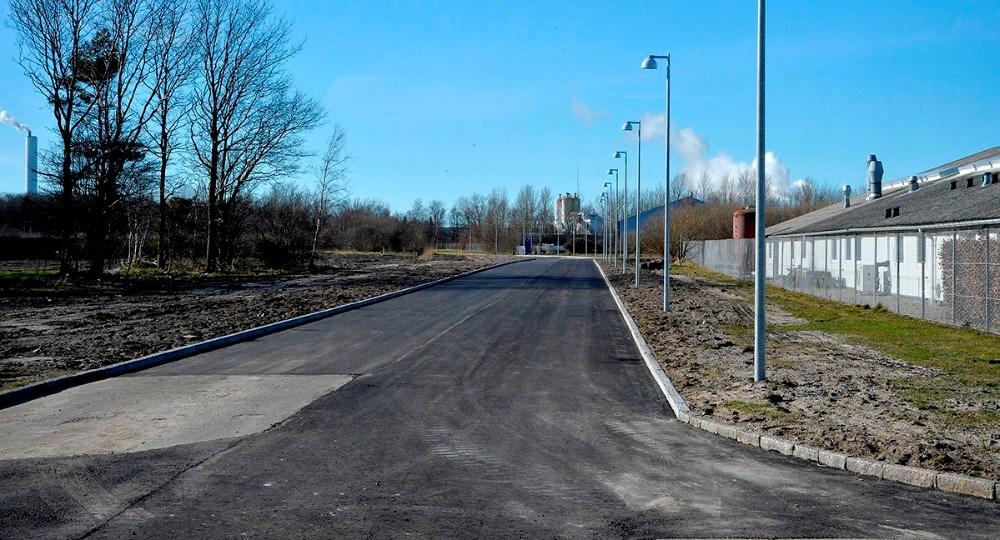 Den nye forbindelsesvej mellem Langagervej og Asnæsvej blevåbnet mandag eftermiddag. Foto: Jens Nielsen