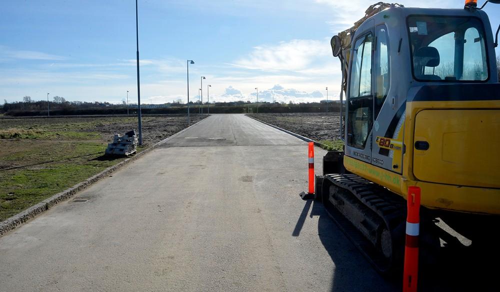 Flakagervej med også blevet forbundet med den nye forbindelsesvej. Foto: Jens Nielsen