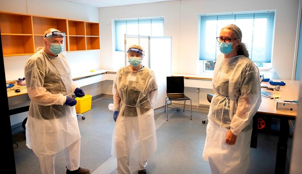 En del af vaccinationsteamet i Kalundborg. Foto: Jens Nielsen