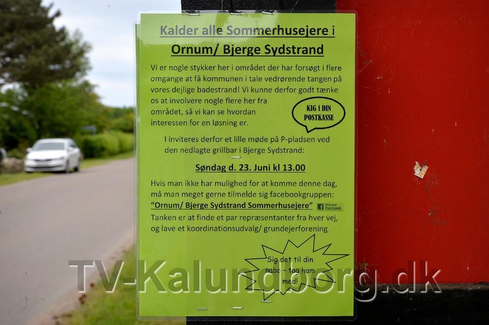 Der er lagt sedler i alle postkasser og sat plakater op flere steder i området. Foto: Jens Nielsen