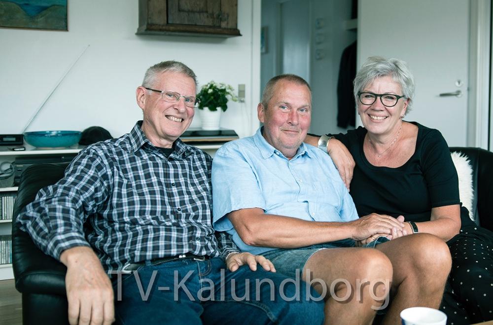 Per Laursen (tv) ogLeon og Helle Houlby. Foto: Alzheimerforeningen.