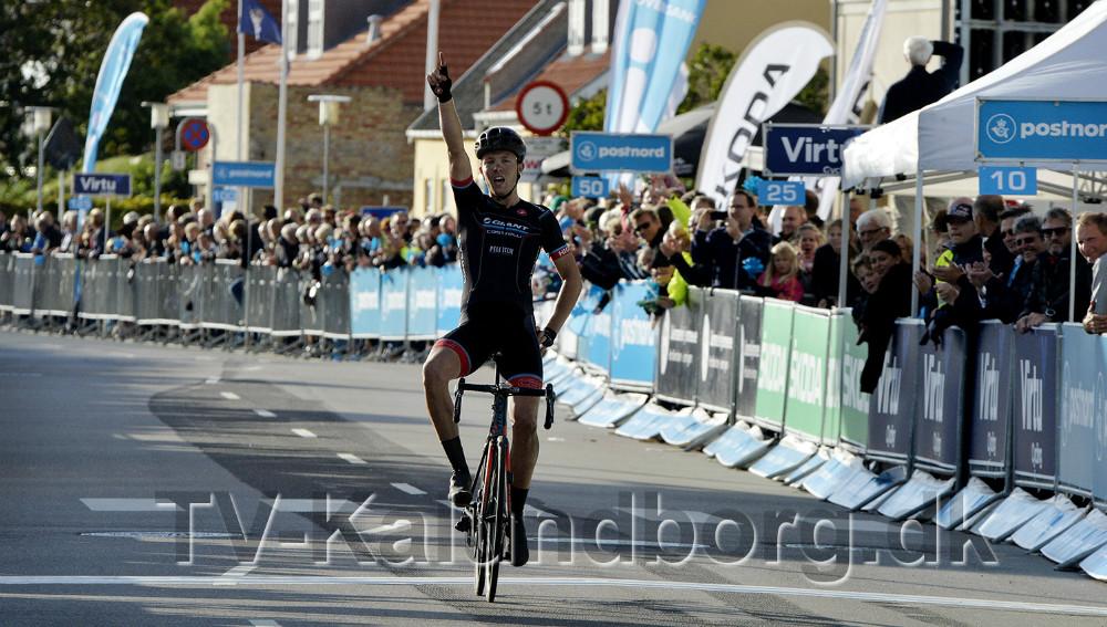 Det blev Team Giant-Castellis Casper Pedersen der vandt etapen i Kalundborg. Foto: Jens Nielsen