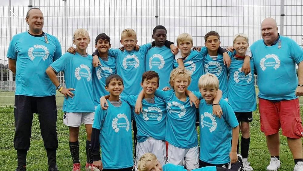 Herredsåsen 6. klasse vindere af kredsmesterskabet i skolefodbold og videre til DM. Privatfoto