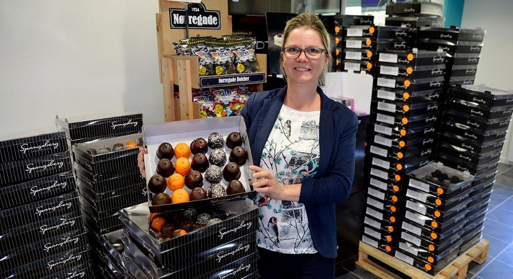 Line Sørensen,daglig leder af Spangsberg Fabriksudsalg i Kalundborg. Foto: Jens Nielsen