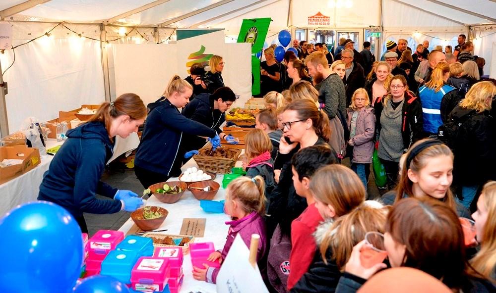 I teltet på Klostertorvet vil der være smagsprøver og information om en sundere livsstil. Arkivfoto: Jens Nielsen