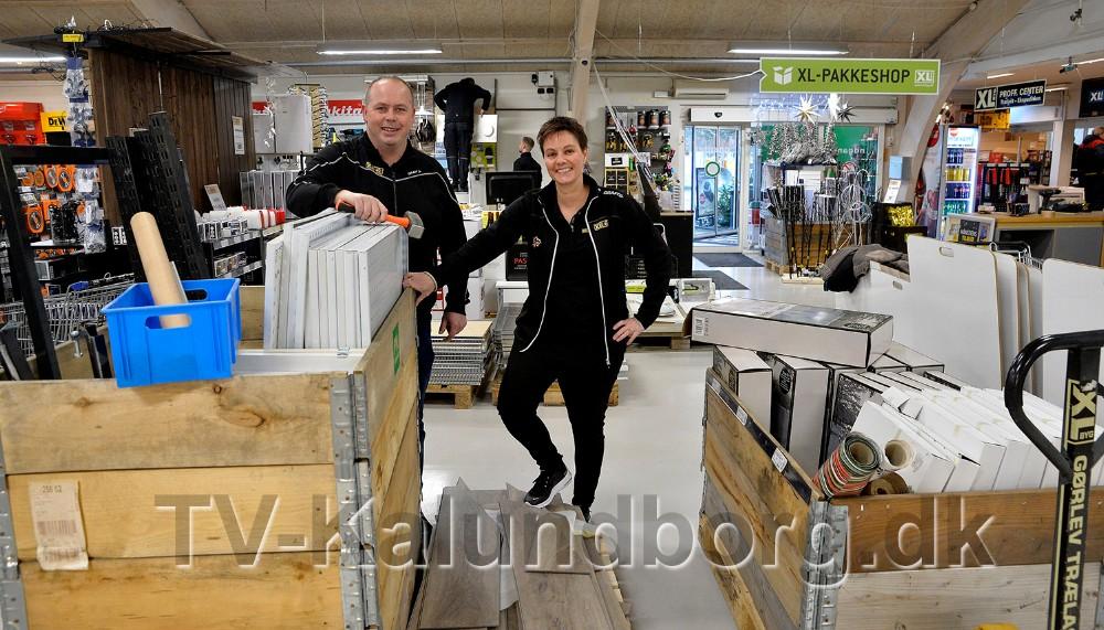 Afdelingsdirektør Jesper Sørensen sammen med Byggecenterchef Karina Søgård. Foto: Jens Nielsen